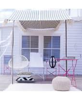 Sessel Acapulco, outdoorgeeignet, Retro-Look, Stahlgestell Vorderansicht