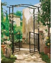 Rankbogen Square, mit Tür, Romantik-Look, Metall Katalogbild