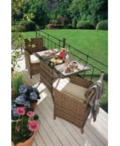 Outdoor-Möbel-Set, 3-tlg. Travo, 3-tlg., inkl. Auflagen, Rattan Katalogbild