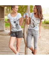 Damen-Sweathose Annika, zwei Eingrifftaschen vorn, elastischer Taillenbund mit Kordelzug, Beinabschluss mit Rippstrickbündchen Katalogbild