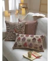 Kissenhülle Viola, mit aufwendiger Stickerei, 100% Baumwolle Katalogbild
