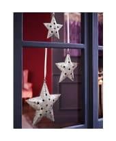 Dekohänger-Set Sterne 3 tlg. Silver Stars, gehämmerte Oberfläche Katalogbild