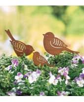 Gartenstecker-Set, 3-tlg. Vogelfamilie, in Rost-Optik, Metall, ca. H20cm, ca. H20cm, ca. H12cm Katalogbild