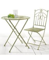 Gartenmöbel-Set aus Metall, 3-tlg., Metall Vorderansicht