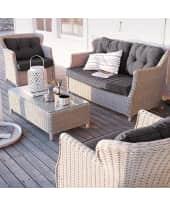 Spar-Set Outdoor-Lounge, 3-tlg. Firenze, 3-tlg., inkl. Auflagen, outdoorgeeignet, Kunststoffrattan Katalogbild