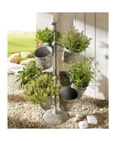 Pflanztopfständer, 9 tlg. Floreros, neun Pflanztöpfe, Metall Katalogbild
