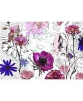 """Fototapete """"Purple"""", 368x254 cm Vorderansicht"""
