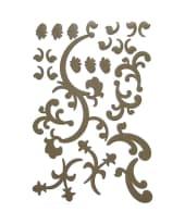 """Wandtattoo """"Ornament"""", grau Vorderansicht"""