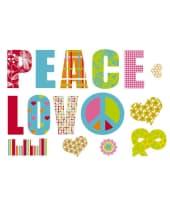 """Wandtattoo """"Love & Peace"""", 3-tlg. Vorderansicht"""