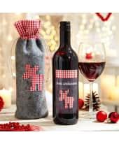 Flaschenbeutel mit Rotwein Elch Katalogbild