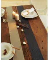Dekostoff mit Applikationen, Ziernieten, 100% Polyester, ca. L200xB12 cm Katalogbild