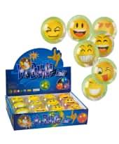 Flummi-Set, 12-tlg. Emojis, Kunststoff, 65 mm Durchmesser Vorderansicht