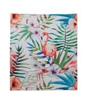 Wohndecke Flamingo, mit Fotodruck, 100% Polyester, ca. 160 x 140 cm Vorderansicht