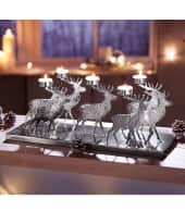 Teelicht-Tablett Hirsche, Edelstahl Katalogbild