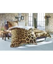 Bettwäsche Leopard, mit Reißverschluss, Baumwolle Flanell Katalogbild