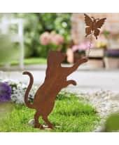 Deko-Figur Rost - spielende Katze, Rost-Optik, Metall, ca. L27 x B12 x H33 cm Katalogbild
