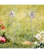 Gartenstecker-Set, 2-tlg. Blume, Metall, je ca. B20 x H58 cm Katalogbild