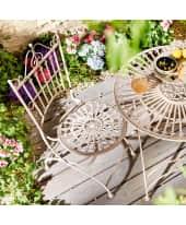 Outdoor-Stuhl-Set, 2-tlg Liv, zusammenklappbar, Antik-Look, Metall, ca. B43 x T48 x H97 cm Katalogbild