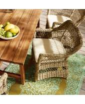 Outdoor-Sessel Luna, mit Auflage, Landhausstil, Kunststoffrattan, Stahlrahmen, Kissenbezug aus 100% Polyester Katalogbild