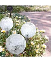 Solarleuchten-Set, 3-tlg. Glaskugeln Katalogbild