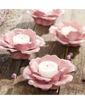 """Teelichthalter """"Rosa Porzellan Blüte"""", Porzellan Katalogbild"""
