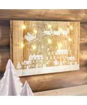 LED Deko Wandbild Santa Claus, ca. B45 x H30 cm Katalogbild