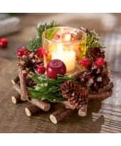 Windlichtgesteck Traditional Christmas Katalogbild