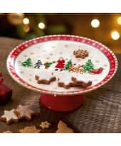 Kuchenplatte Weihnachtsmann& Kinder, handgefertigt, ca. Ø 27 cm Katalogbild