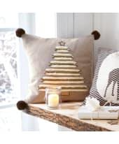 Kissenhülle Tannenbaum, mit Reißverschluss, Baumwolle Katalogbild