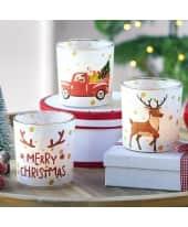 Teelichthalter-Set, 3-tlg. Merry Christmas, Glas Katalogbild
