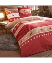 Bettwäsche Hüttenzauber, mit Reißverschluss, Baumwolle Biber Katalogbild