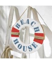 Deko-Objekt Rettungsring, mit Aufdruck Beach House, MDF, ca. L37 x B37 x T1 cm Katalogbild