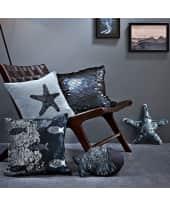 Kissenhülle mit Pailletten Ocean, mit Reißverschluss, Baumwolle Katalogbild