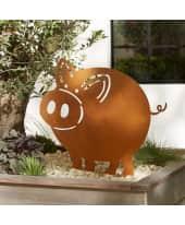 Gartenstecker Schwein Leon, in Rost-Optik Katalogbild