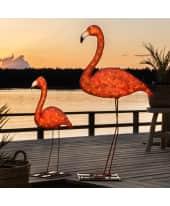 LED-Deko-Objekt Flamingo, Acryl, klein ca. 65 cm hoch, groß ca. 110 cm hoch Katalogbild