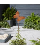 Rankstange Schmetterling, Gartenstecker Rost, Metall, Höhe ca. 115 cm Katalogbild