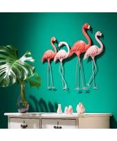 Wand-Objekt Flamingos, Metall, ca. 76 x 58 cm Katalogbild