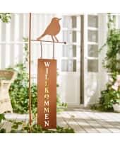 Gartenstecker Willkommen Katalogbild