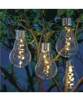 Solarleuchten-Set, 2-tlg. Glühbirne, Glas Katalogbild