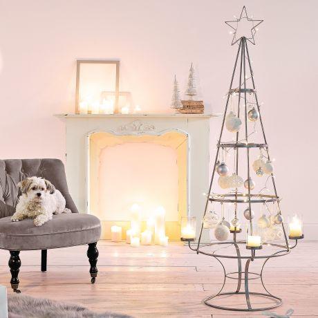 Weihnachtsbaum Metall.Deko Objekt Weihnachtsbaum Metall Glas