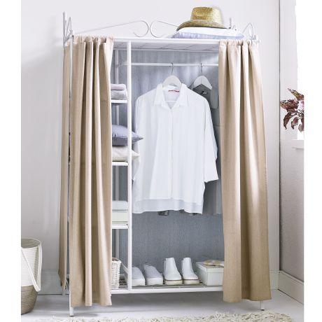 Kleiderschrank Air, mit Kleiderstange und Ablageflächen für Kleidung ...