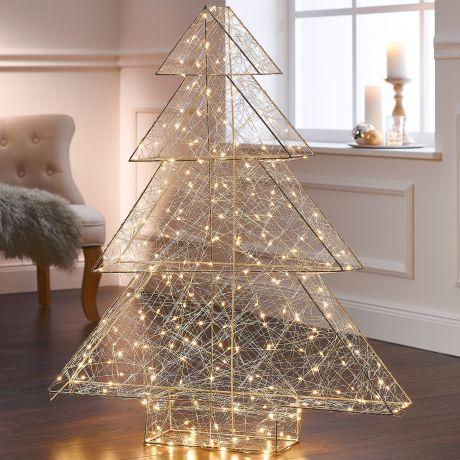 Weihnachtsbaum Kunstoff.Led Tannenbaum 3d Modern Art Mit 260 Leds Metall Kunststoff Leds Ca L85 Xb15 X H98 Cm