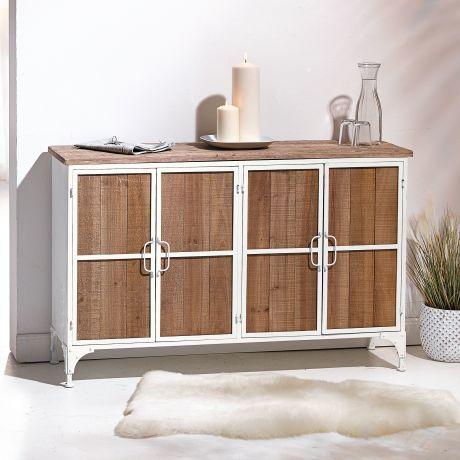 Kommode Skandinavisch Holz Metall