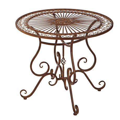 Outdoor Tisch Versailles Nostalgisch Eisen Ca O 85 Cm