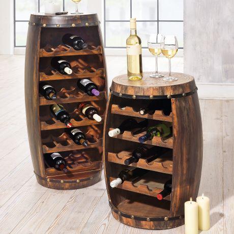 Flaschenregal Weinfass Fur 23 Flaschen Rustikal Holz Ca Hohe 99