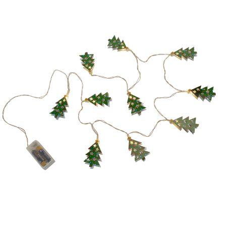 Lichterkette Weihnachtsbaum.Led Lichterkette Weihnachtsbaum Modern Eisen Ca L175 Cm