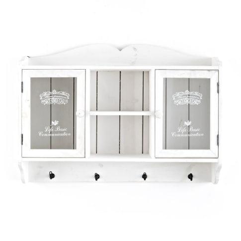 wandschrank bedruckte glast ren antik look tannenholz. Black Bedroom Furniture Sets. Home Design Ideas