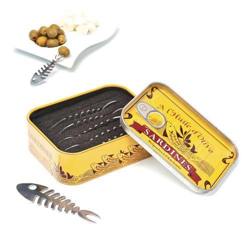 Snack Piekser, 6-tlg., inkl. Dose Vorderansicht