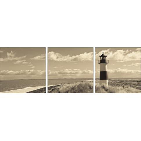Bild Leuchtturm, Float-Glas Vorderansicht