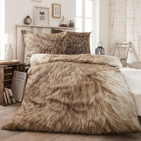 bettw sche fell mit rei verschluss baumwolle biber. Black Bedroom Furniture Sets. Home Design Ideas